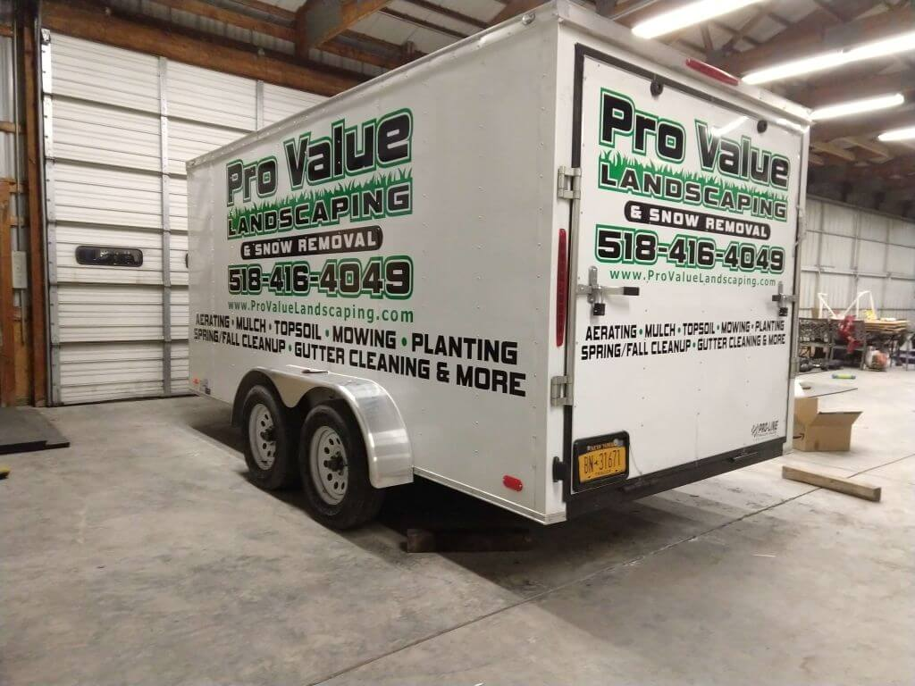 pro value landscaping and snow removal vehicle
